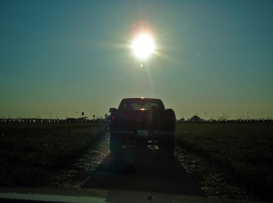 Driving up to Farm Progress 2009 this morning.