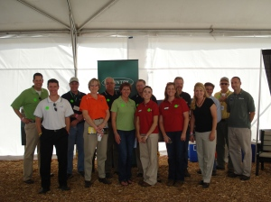 Some of the Farm Progress tweeps at the tweetup today in the Country Financial tent